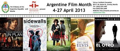 Argentine Film Month at the Instituto Cervantes 4-27 april 2013