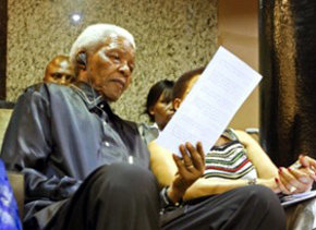 El ex presidente sudafricano Nelson Mandela