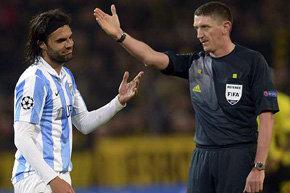 El Málaga presentará queja oficial ante la UEFA por arbitraje con Dortmund