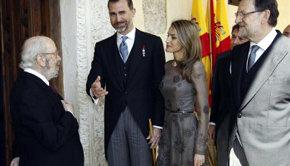 Pitidos y abucheos a los Príncipes de Asturias y a Rajoy en el Premio Cervantes