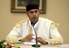 Saif el Islam Gaddafi hijo de Muamar Gaddafi.