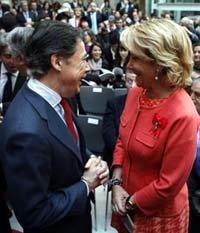 Ignacio González y Esperanza Aguirre (Efe)