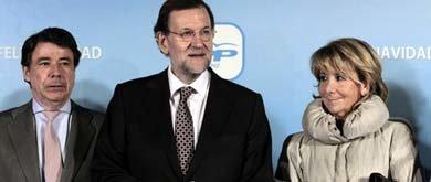 Ignacio González, Mariano Rajoy y Esperanza Aguirre (Efe)