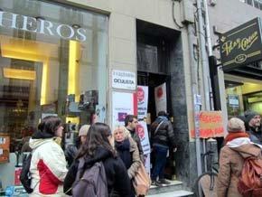 Protesta en A Coruña contra una ejecución hipotecaria.