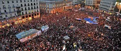 La concentración en la Puerta del Sol en 2011 que dio origen al movimiento 15M. (EFE)