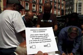 El 99,4% de los madrileños, contra la privatización de la sanidad