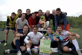 La red social para deportistas recaudó 250 kilos de alimentos a favor de la Federación Española de Banco de Alimentos