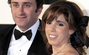 Alejandro Agag y su esposa