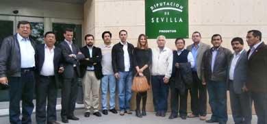 Visita oficial de funcionarios públicos de gobiernos regionales del Perú a la ciudad de Sevilla