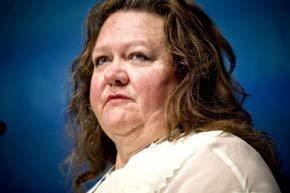 Gina Rinehart, una multimillonaria australiana