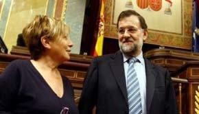 Celia Villalobos y Mariano Rajoy