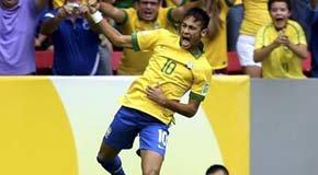 Brasil batió a Japón en la inauguración