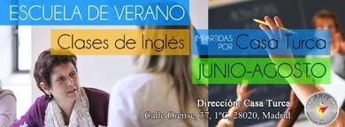 Curso de verano de Inglés para adultos (Junio-Agosto) - Casa Turca