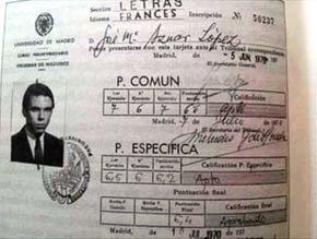 Las notas de Aznar