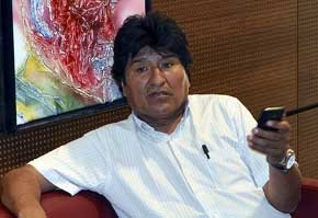 Evo Morales, en el aeropuerto de Viena