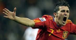 David Villa al Atleti por 5 kilos