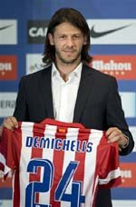 Demichelis presentado como nuevo jugador colchonero