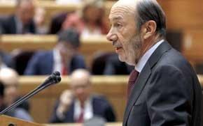 Alfredo Pérez Rubalcaba en el Senado. (EFE)