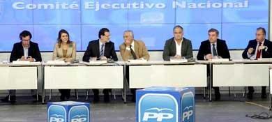 Foto de archivo de una reunión extraordinaria del Comité Ejecutivo Nacional del PP. (EFE)