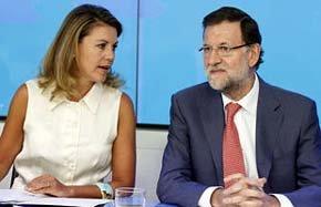 Cospedal junto al presidente Rajoy