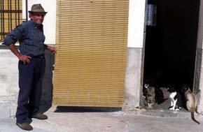 Pascual, frente a su vivienda de la localidad murciana de Jumilla. (Foto: Vidal Coy)