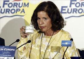 Ana Botella y su 'relaxing cup of café con leche'