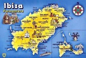 Mapa de Ibiza y Formentera