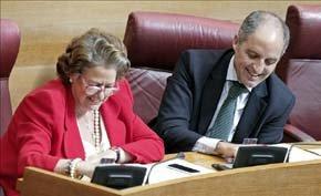 La alcaldesa de Valencia, Rita Barberá, y el expresident de la Generalitat Francisco Camps. EFE/Archivo