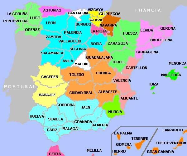 Mapa de España actual