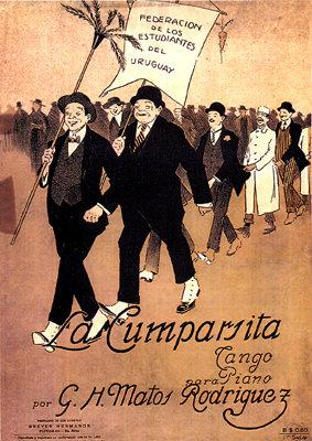La comparsa salía recorriendo las calles empedradas de nuestro querido Uruguay