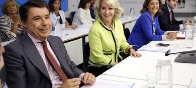 Esperanza Aguirre, presidiendo la reunión del Comité Ejecutivo Regional celebrado esta semana. (EFE)