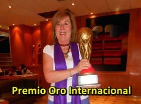 Annemarie Balde recibió el  Premio Globo de Oro