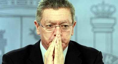 Alberto Ruiz-Gallardón, ministro de Justicia del Gobierno de España Emilia Gutiérrez