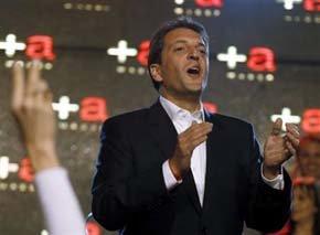 Sergio Massa, obtenía un 43,6 por ciento de los votos