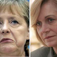 La delirante comparación de imagen de Matthei con Angela Merkel