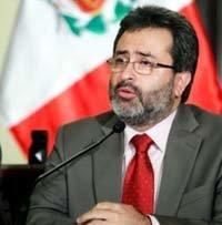 El presidente del Consejo de Ministros de Perú, Juan Jiménez Mayor