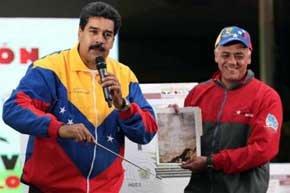 Maduro dice que la cara de Chávez apareció durante una excavación del Metro