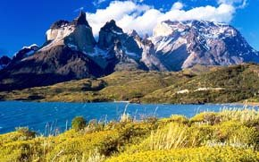 Cuernos del Paine. Vista desde el Lago Pehoé