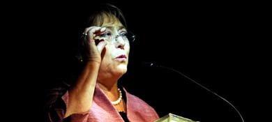 Bachelet gana en las quince regiones de Chile y con mayoría absoluta en nueve (Efe).