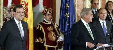 El presidente del Congreso, Jesús Posada junto al jefe del Ejecutivo, Mariano Rajoy (Efe)