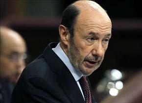 Alfredo Pérez Rubalcaba, jefe de la oposición...