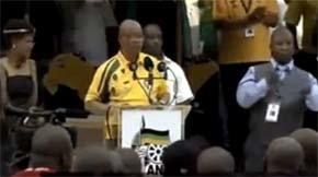 El falso intérprete del funeral de Mandela ya había aparecido en un mitin del presidente sudafricano
