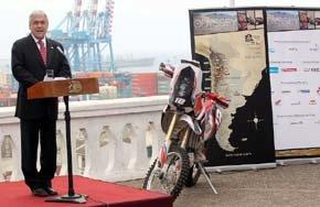 Presidente Piñera encabezó lanzamiento del Dakar 2014 en Valparaíso