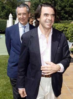 José Mª Aznar y Miguel Blesa en una imagen de archivo
