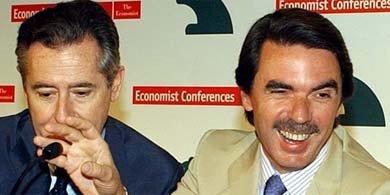 José María Aznar y Miguel Blesa. EFE/Archivo