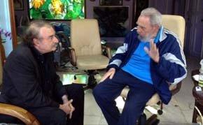 Fidel Castro recibió a Ignacio Ramonet en su casa de La Habana