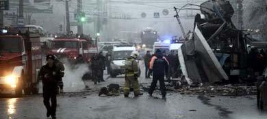 Imagen del atentado en Volgogrado (Reuters)