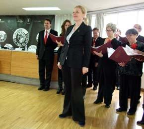 El Coro Galileo (en una imagen parcial), durante su actuación
