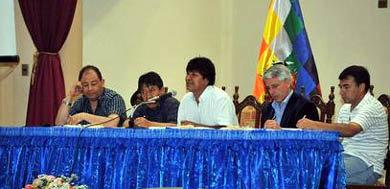 Morales y sus ministros planifican el trabajo de este año en Bolivia