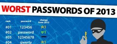 La contraseña más usada (y menos segura) es 123456